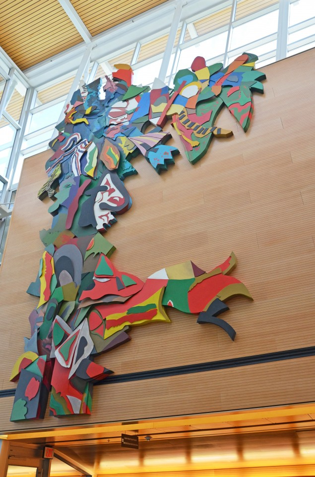 The Tree of Life, now installed in the Reichwald Health Sciences Centre on UBC's Okanagan campus.