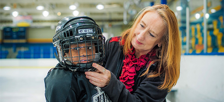 UBC Prof. Jane Roskams says hockey parents, coaches and clubs should be aware that concussions can have different impacts at different ages Photo: Martin Dee