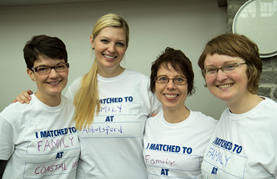 New Family Medicine residents (left to right): Jessica Palmer, Rachel Dalzell, Rachel Delacretas-Jaunich, Kristina Williams.