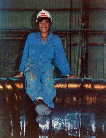 Hanh Huynh at the smelting plant in Trail, B.C. -- his first job upon arriving in Canada.