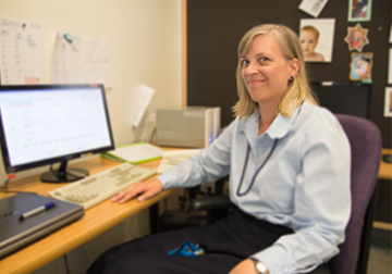 Dr. Susan Small at work in the Pediatric Audiology Lab at UBC's School of Audiology and Speech Sciences