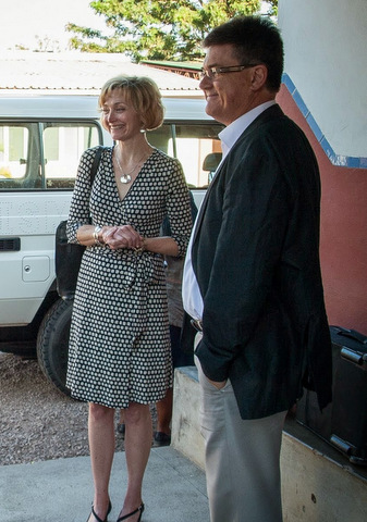 L-R: Laura Magee and collaborator Peter von Dadelszen.