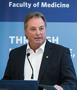 Brad Bennett, speaking at the gift announcement in September. Photo by Martin Dee