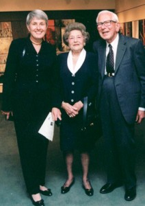 L-R: Irene Bettinger and her parents, Edwina and Paul Heller.