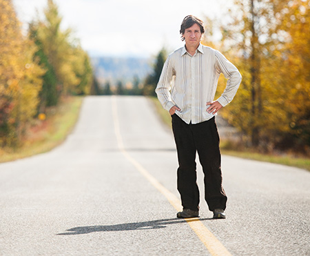 James Card, on the road to Mackenzie. Photo by Tanya Peterson