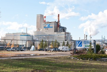 The Mackenzie Pulp Mill Corporation, one of the town's major employers. Photo by Tanya Peterson