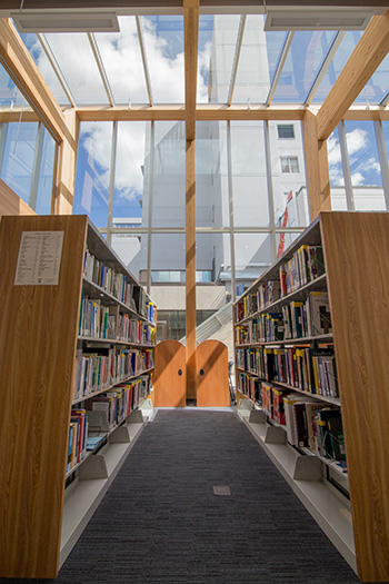 The medical library in the new Learning and Development Centre.