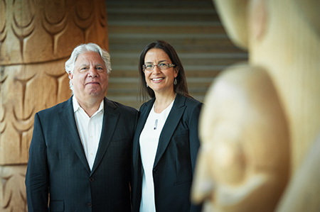 L-R: Martin Schechter and Nadine Caron, Co-Directors of the UBC Centre for Excellence in Indigenous Health. Photo credit: Martin Dee
