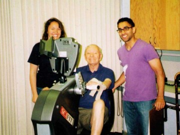 Left to right: Taryn Klarner, a research patient, and Kulveer Parhar