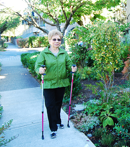 Senior woman walking_post