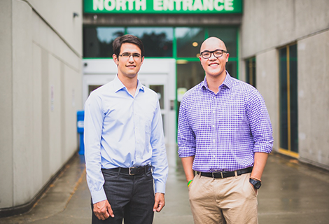 Matthew Harding and Steven Leung, the first residents to join UBC's new pediatric residency site on Vancouver Island.