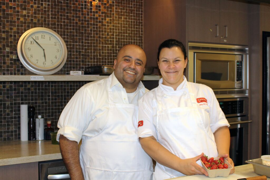 Vancouver chefs Hamid Salimian and Jen Peters cooked dinner for patients.
