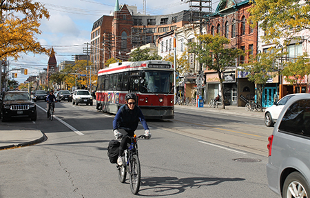 Cyclists near tracks_post