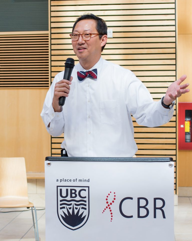 UBC President Santa Ono speaking at Research Day of the Centre for Blood Research. Photo credit: Kitty Liu