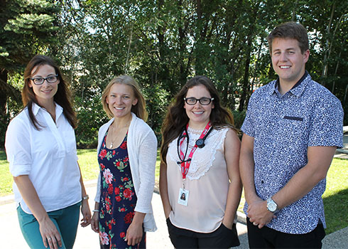 South Okanagan family medicine residents (left to right): Jacqueline Bourdeaux, JoyAnne Krupa, Rebecca Psutka, and Travis Thompson.