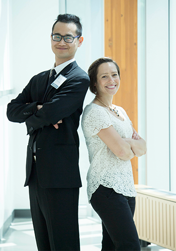 Master of Occupational Therapy students Taku Kawai and Andrea Smith
