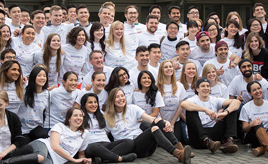 UBC medical students celebrate the results of CaRMS 2017 at the Medical Student Alumni Centre in Vancouver.