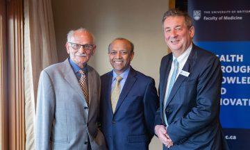 Dr. Sultan Karim, Professor John Climax, and Dr. Dermot Kelleher